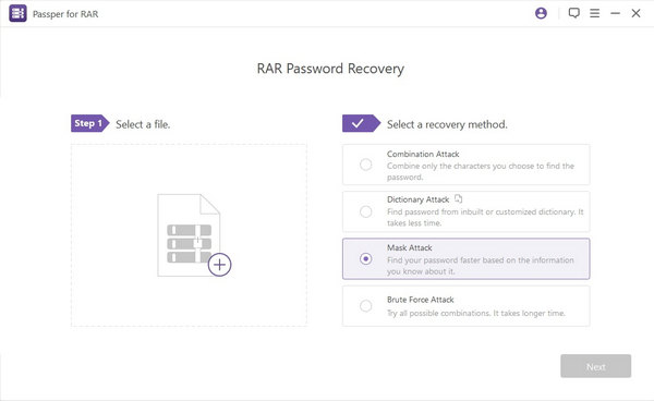 download and install UUkeys RAR Password Recovery